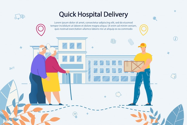 Delivery service to hospital for elderly people