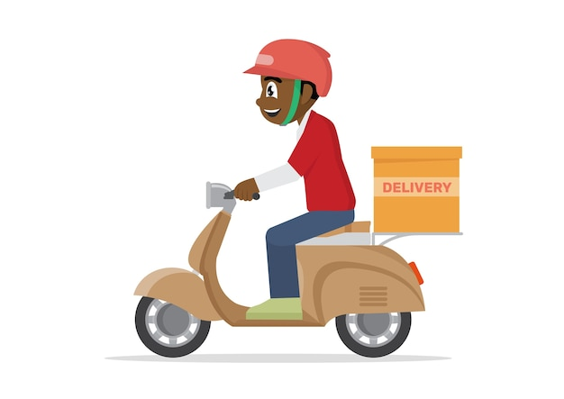 Delivery service job.