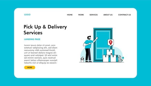 Целевая страница службы доставки