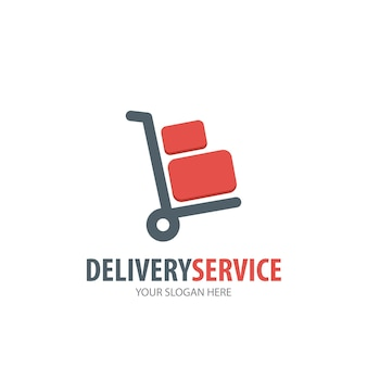 Delivery service logo for business company. simple delivery service logotype idea design. corporate identity concept. creative delivery service icon from accessories collection.