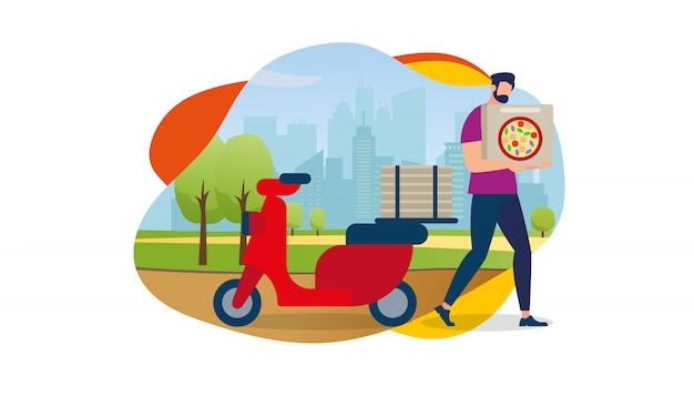 Delivery service order shipping