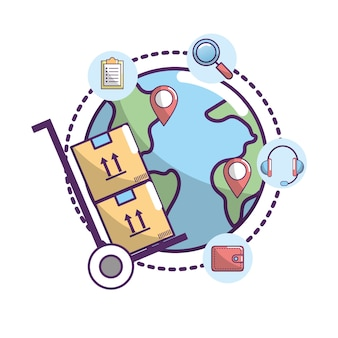 Delivery service to transportation package location