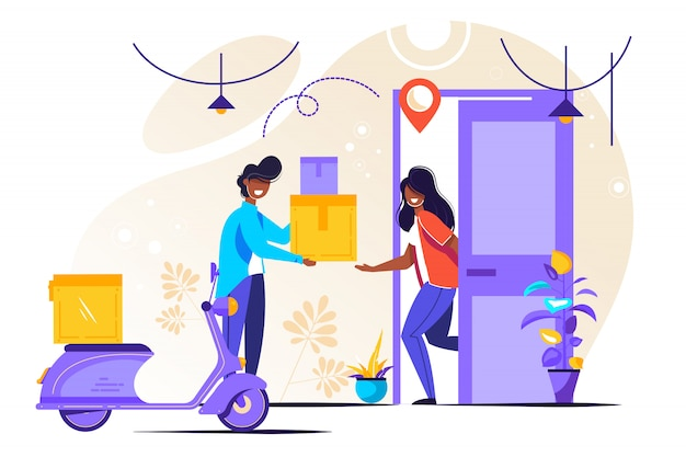 Delivery service vector illustration