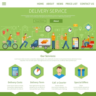Delivery service web design