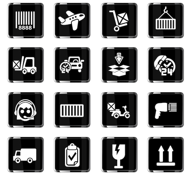 Delivery service web icons for user interface design