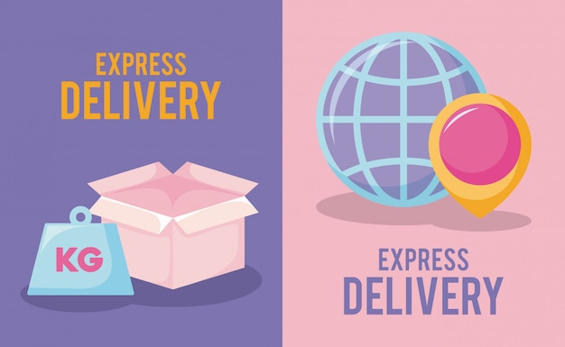 Delivery service with box and pin location