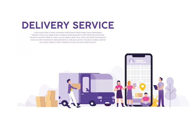 Delivery service with online order tracking