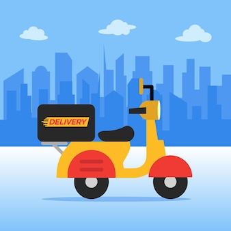 Delivery service with scooter