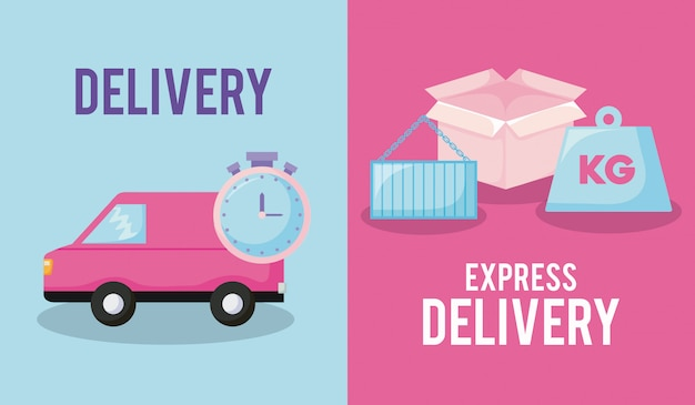 Delivery service with van car