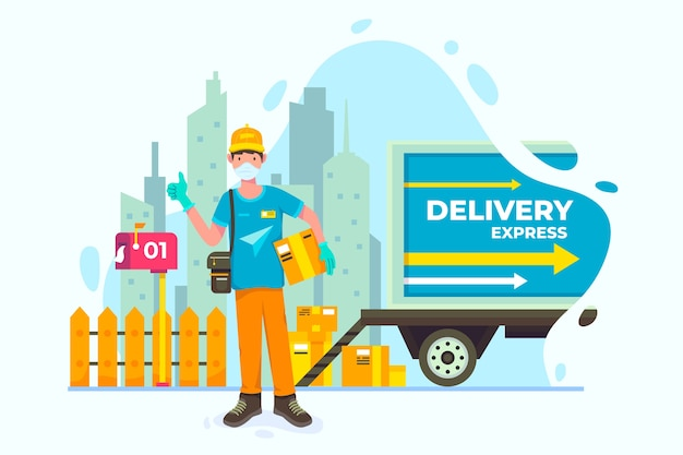 Delivery service with van