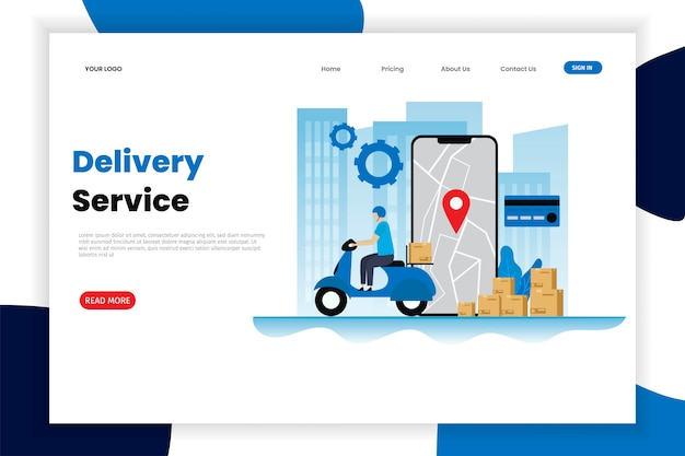 Delivery services flat vector illustration concept