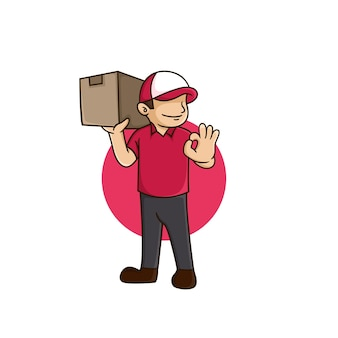 Delivery services order shipping box online parcel