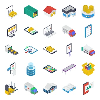Delivery and shipment icons pack