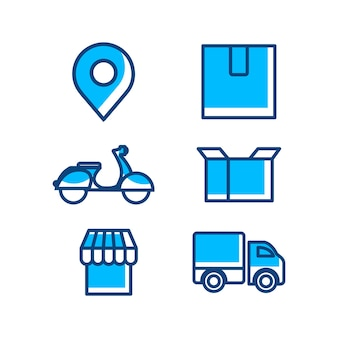 Delivery and shipping icon vector template
