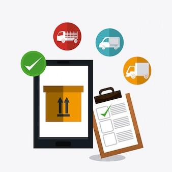 配送、輸送および物流事業