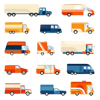 배달 트럭 세트