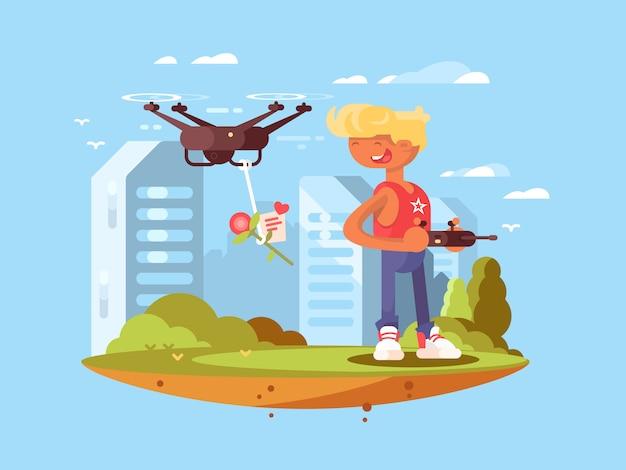 Quadrocoptersを使用した配信