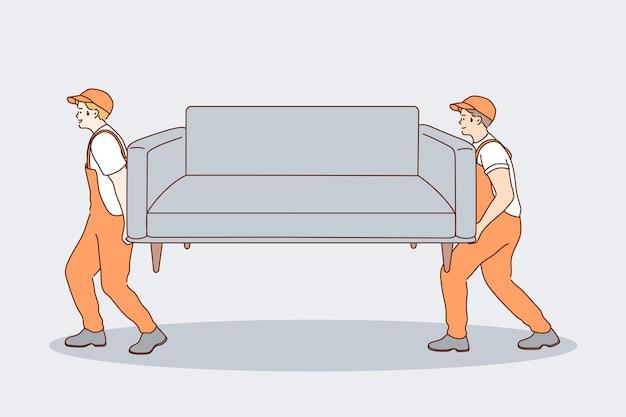 Концепция работы доставки в рисованной