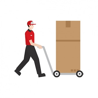 Deliveryman with a parcel