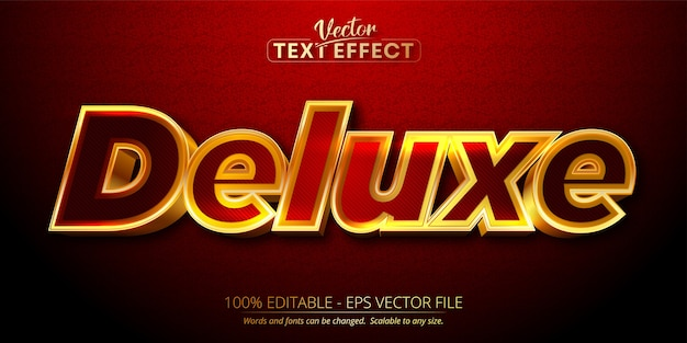 Deluxe text, shiny gold style editable text effect