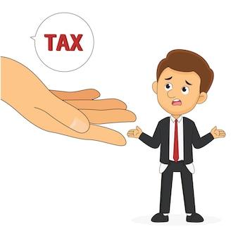사업가로부터 세금을 요구