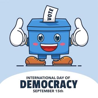 Демократия иллюстрация талисман дизайн