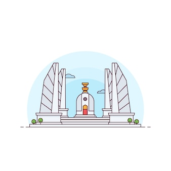 The democracy monument of thailand    illustration