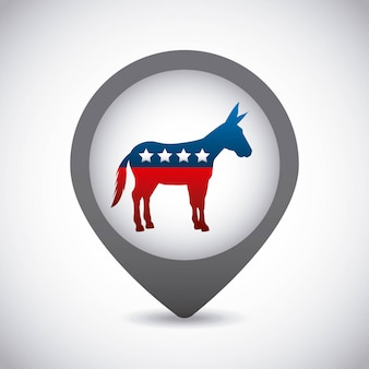 Democrat party usa isolated icon
