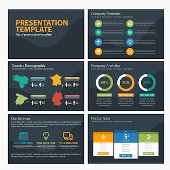 Demography infographic template
