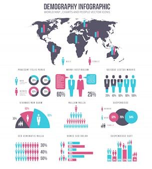 Demography infographic