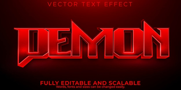 Demon editable text effect, dead and scary text style