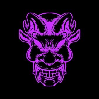Demon face illustratio