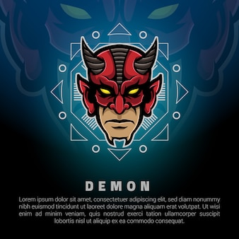 Demon head logo template