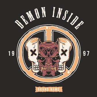 Demon inside illustration.