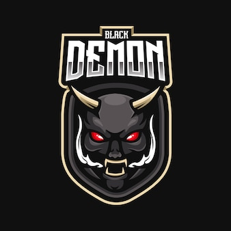 Demon mascot logo for e-sport team