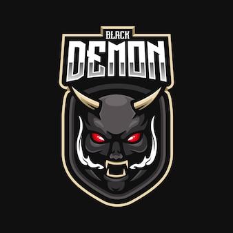 Eスポーツチームの悪魔のマスコットロゴ