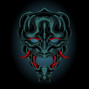 Demon mask from darkness