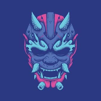 Иллюстрация демонов и дизайн футболки