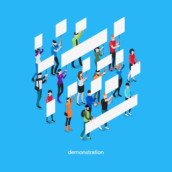Demonstration isometric template