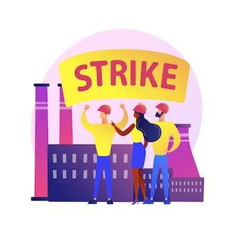 デモンストレーション。産業公害に対する透明で抗議のスローガンとスピーカーで抗議に参加する人々。集会、暴動、ストライキ。