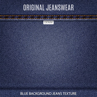 Denim background of navy jeans texture