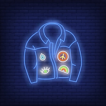 Denim coat neon sign