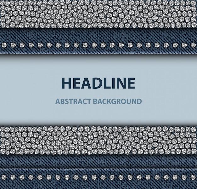 Denim design with sequin stripes