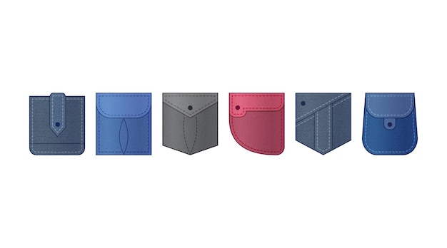 Джинсовый патч-карман, джинсовая одежда иллюстрация одежды