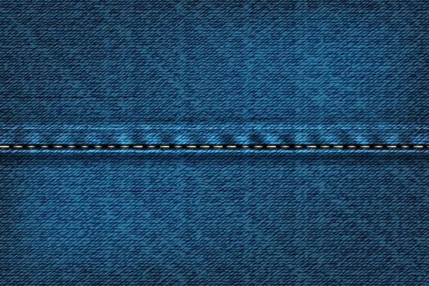솔기가있는 데님 직사각형 배경. 파란색 질감의 그림입니다.