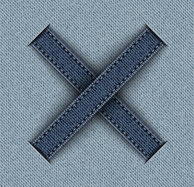 Denim with cross stripes
