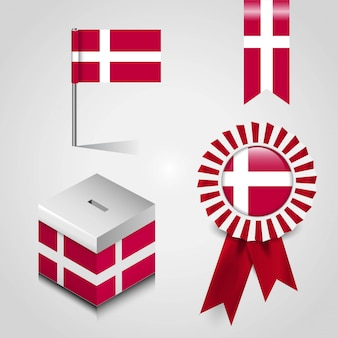 Датский флаг страны