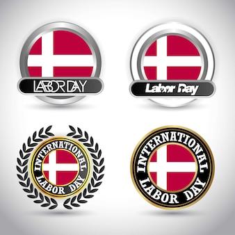 Дания флаг с вектором дизайна рабочего дня