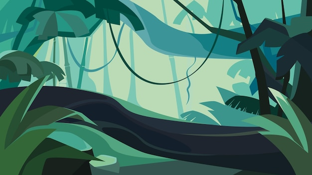 鬱蒼とした熱帯林。美しい自然の風景。