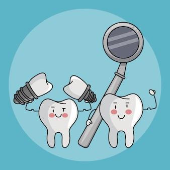 Dental care cartoons